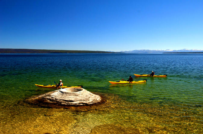 Day paddle on yellowstone lake in yellowstone national park 196925