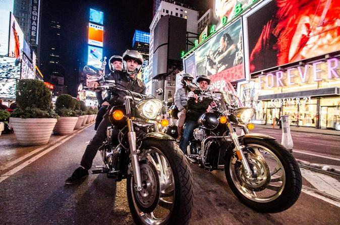 Private Motorcycle Sightseeing Tour of NYC at Night