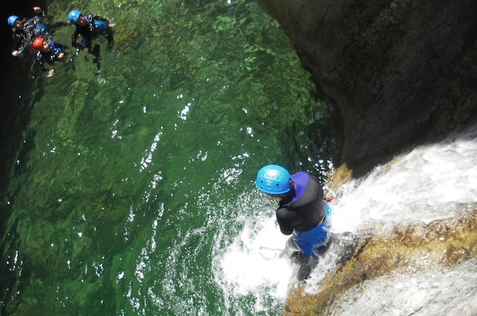 4 hour canyoning in the island of corsica the canyon of verghellu in corte 199545