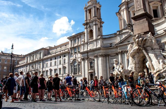 Excursão de bicicleta de 3 horas para descobrir Roma