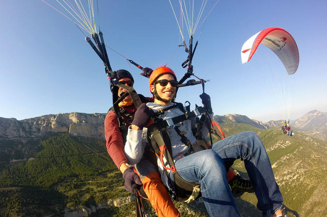 Catalonia Paragliding Flight in Montsec Range from Ager