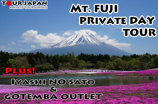 FULL DAY MT FUJI TOUR WITH GOTEMBA OUTLET AND IYASHI NO SATO