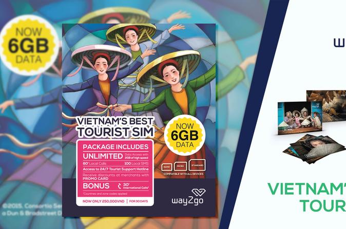 Best Tourist SIM card in Vietnam (Airport pickup or hotel delivery in Saigon)