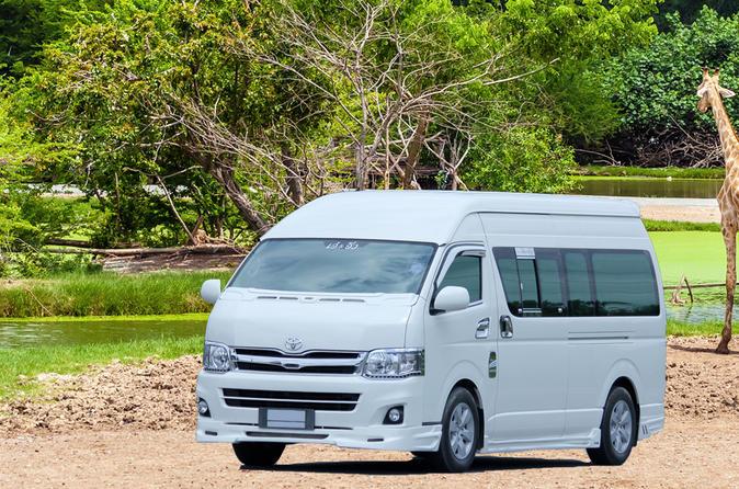 Geteilte Safari World Transfers mit einer Fahrt durch den Safari Park