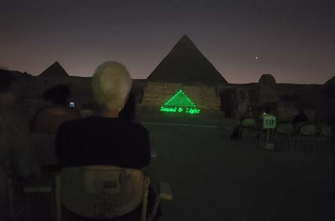 sound and light spectacular at Giza pyramids