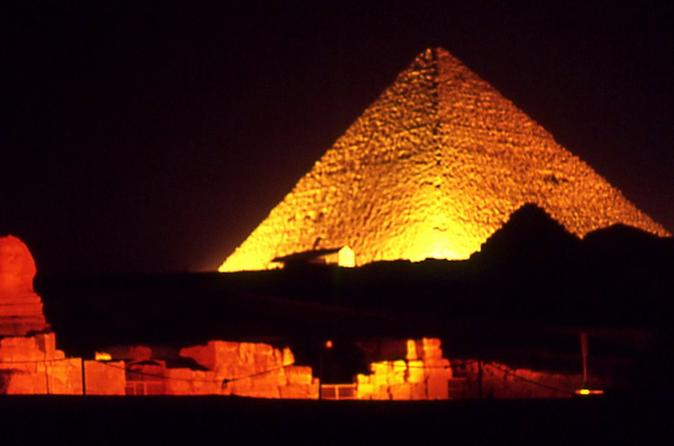 Private Sound and Light Show at Giza Pyramids