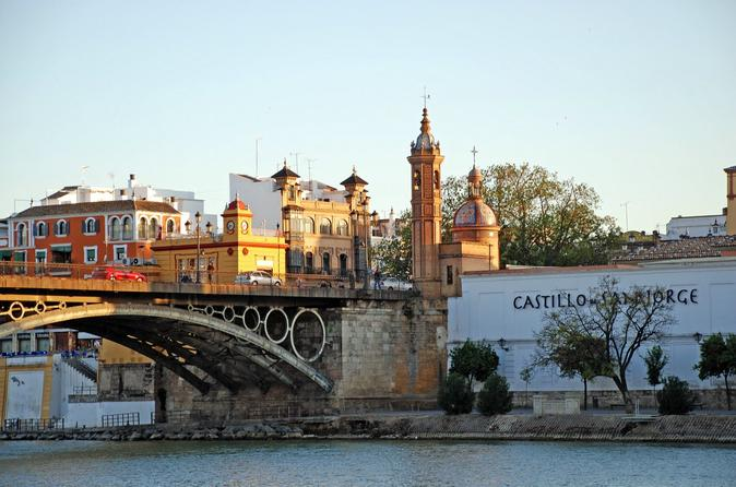 A river view of the Triana Market, which houses the inquisition museum