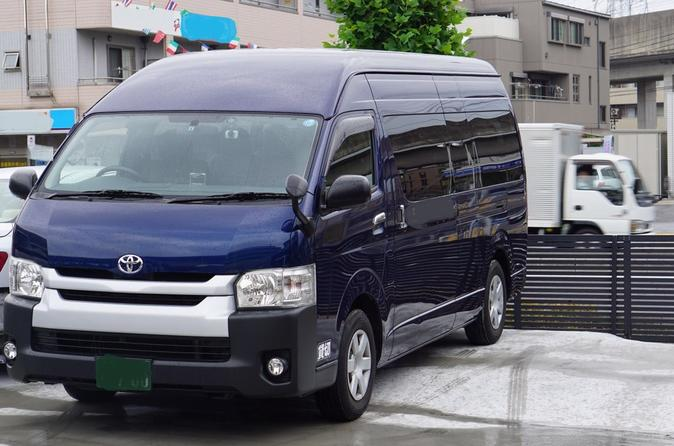 Haneda Airport to Main Tokyo door to door Private Transfer Service 9 seats Hiace