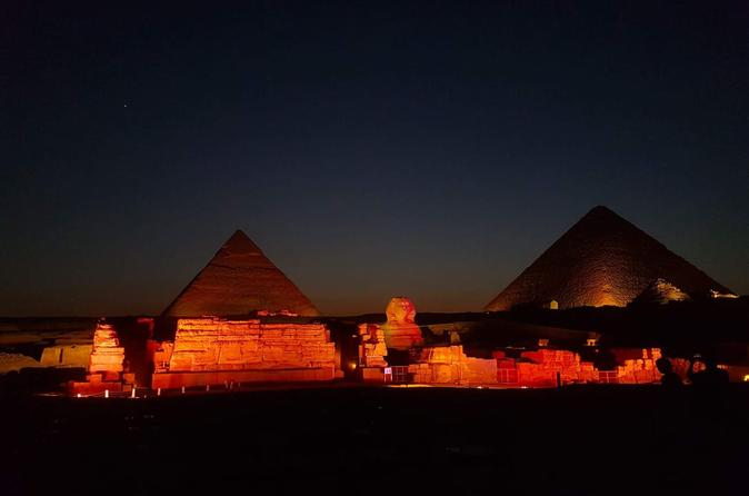 sound and light spectacular show at Giza pyramids