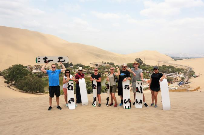 Dune buggy & Sandboarding around Huacachina Oasis & Ballestas Islands day tour