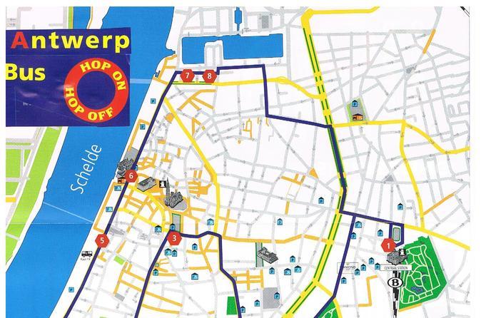 Excursão de ônibus por Antuérpia com uma hora de duração