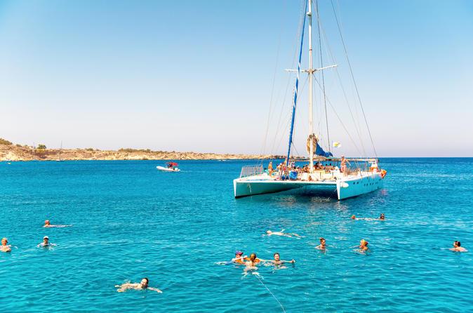 Navegação em catamarã em Aruba com mergulho com snorkel