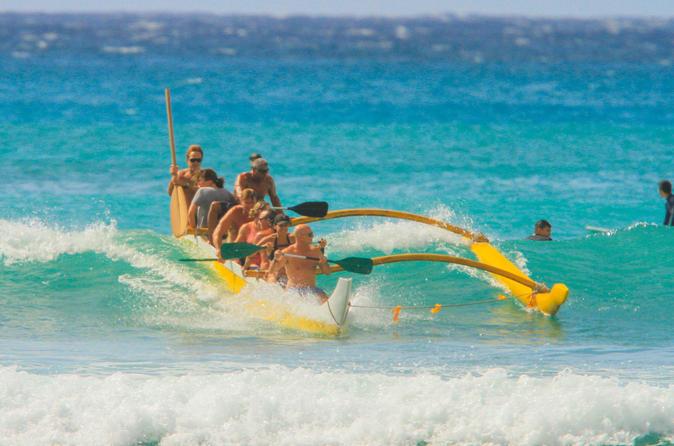 Beach Boy Adventure - Outrigger Canoe Ride Plus Surfing Lesson