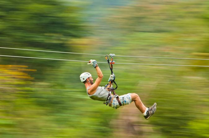 Waterfall rappelling and zipline adventure at bocawina rainforest in dangriga 230886