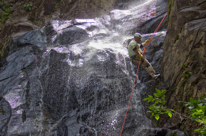 Waterfall rappelling at bocawina rainforest in dangriga 230872