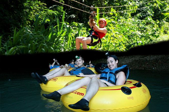 Private cave tubing and zipline adventure from belize city in belize city 192522