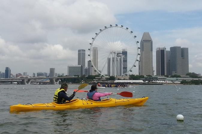 Kayak Tour to Singapore Flyer, Gardens by the Bay and Marina Bay Sands