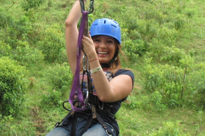 Zip Line Tarzan Swing and Blue River Adventure at Rincon de la Vieja from Liberia
