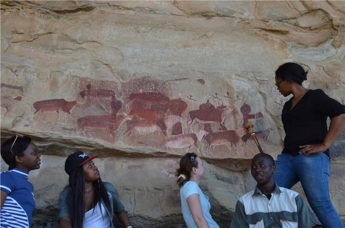 Kamberg Bushman Rock Paintings Tour from Durban