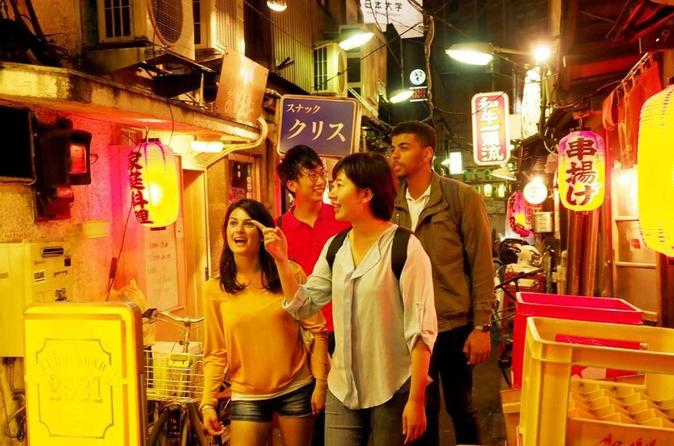 1hour Walking Tour in Shibuya -Go to Local Bar Area & Streets-