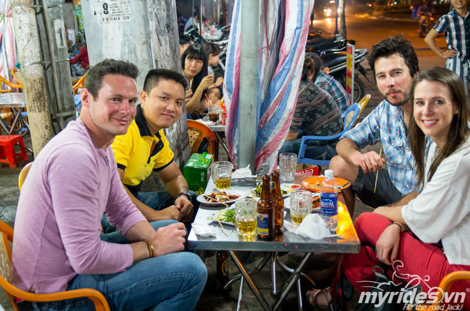 Saigon Night Street Food Tour by Motorbike