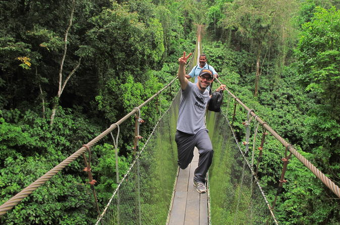 Arenal Hanging Bridges- Eco Farm and Luxury Hot Springs from San Jose