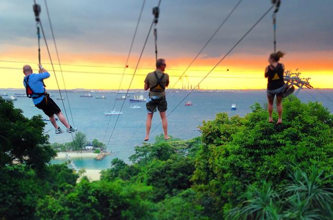 MegaZip Adventure Park Zipline on Sentosa Island