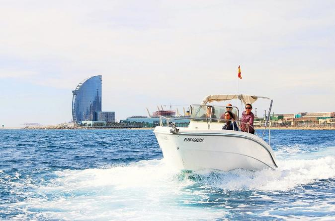 Barcelona Private Motorboat Sailing Trips With Cava