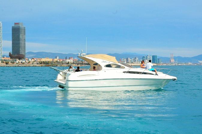 Luxury Yacht Tour with Professional Skipper and Tapas Menu from Barcelona