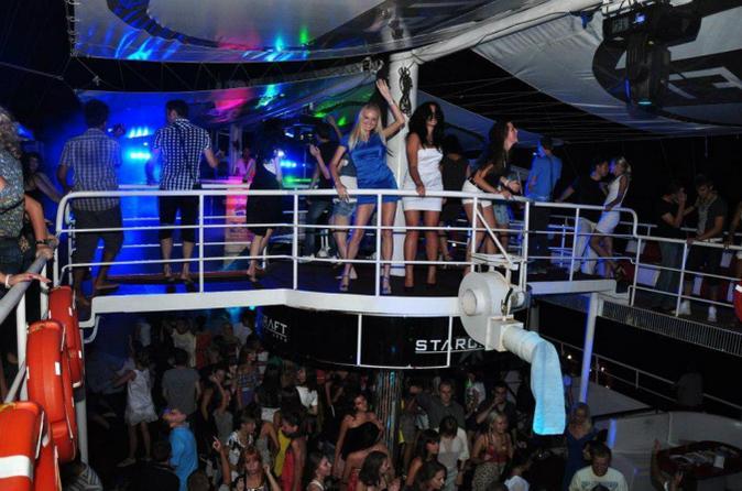 Alanya Party Boat at Night