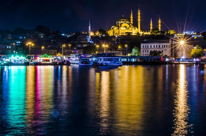 All Inclusive Bosphorus Dinner Cruise with Turkish Night Show from Istanbul