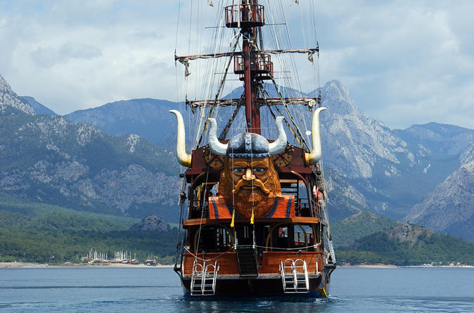 Viking boat tour on the beautiful bays of kemer in kemer 207793