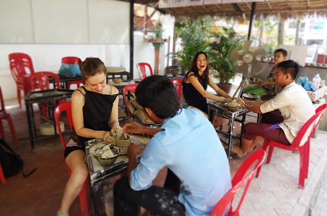 Siem Reap Pottery Making and Ceramic Art Painting Experience""
