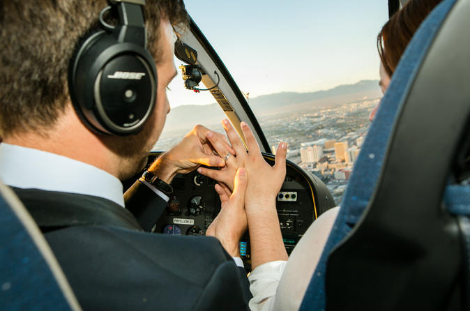 Helicopter Wedding Ceremony Over the Las Vegas Strip