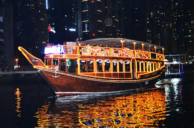 Dhow Cruise along the Marina with Dinner from Dubai