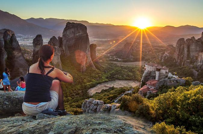 Sunset on meteora rocks tour in kalabaka 296866