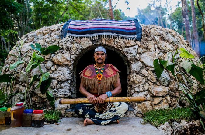 Temazcal privada ou compartilhada, ritual maia único saindo de Cancun