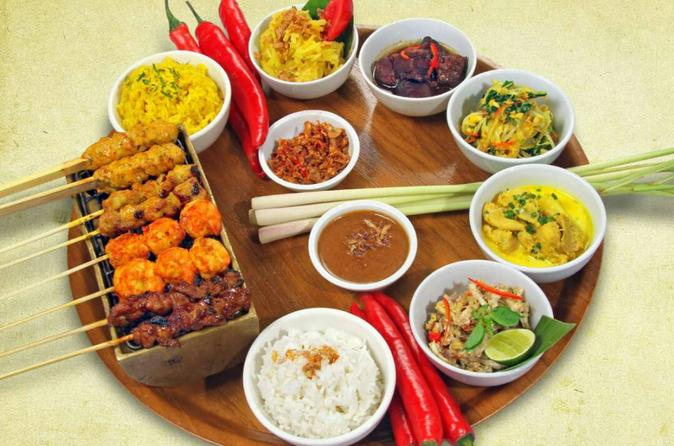 Balinese rijsttafel dinner at warung nia in kuta 256359