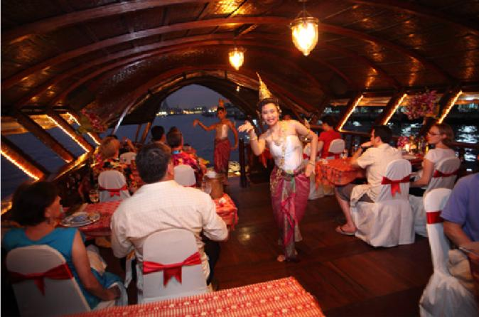 Loy Nava Rice Barge Dinner Cruise Including Transfers from Bangkok