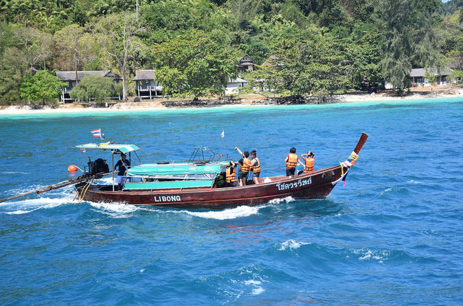 4 Island Tour to Koh Chuak - Koh Mook - Koh Ngai and Koh Maa by Longtail Boat from Koh Lanta