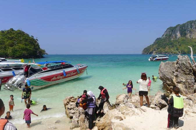 4 Islands Tour to Spectacular Divided Sea by Longtail or Speed Boat from Krabi