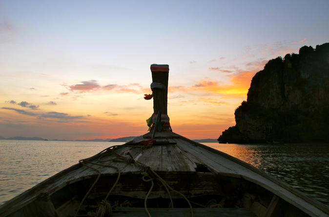 7-Island Sunset Tour with BBQ Dinner and Night Snorkeling from Krabi