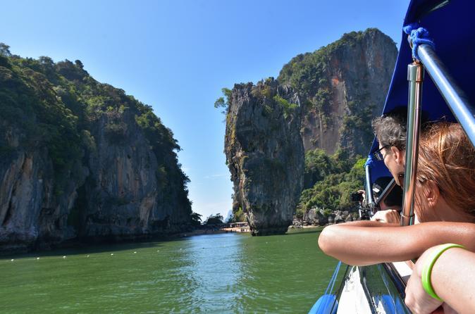 Full day tour to phang nga bay including james bond island and hong in krabi noi 598890