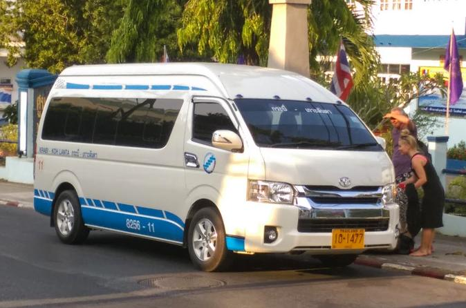 Hourly Departure from Krabi Airport to Koh Lanta by Shared Minivan