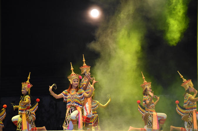 Illumanorah Dance and Light Show with Seafood Buffet in Paka Show Park Krabi