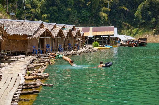 Khao Sok Jungle Safari with Raft House Adventure on Cheow Larn Lake from Krabi