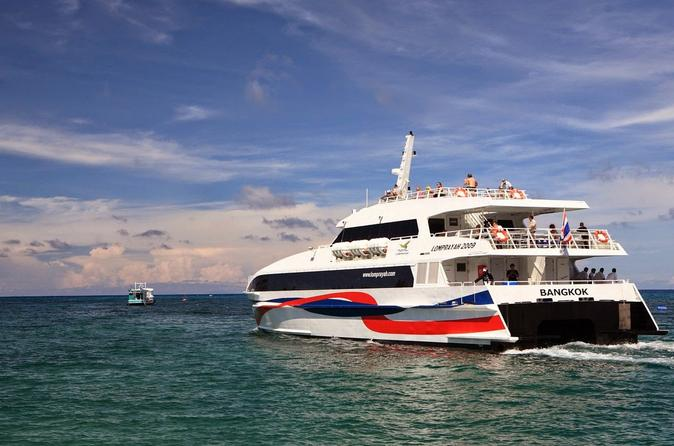 Koh Phangan to Surat Thani Airport Including High Speed Catamaran and Shared Van
