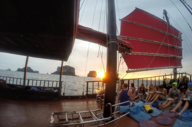 Krabi sunset cruise to 5 islands on the siamese junk pla luang in krabi noi 225913