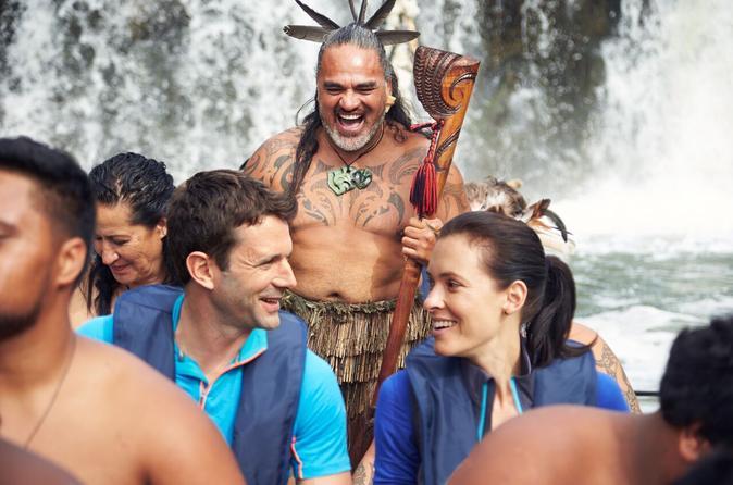Haruru Falls And Waitangi River Tour On A Traditional Maori Waka With Guide