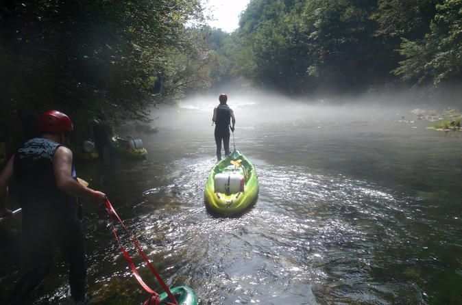 Kayaking at the mreznica canyon in zagreb 255799